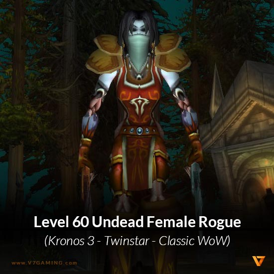 Undead Female Rogue Level 60 - Kronos 3 Classic WoW