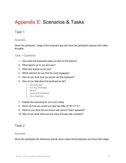 Scenarios & Tasks