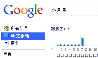 Google动态更新结果,截于北京时间10/10/07 23:03