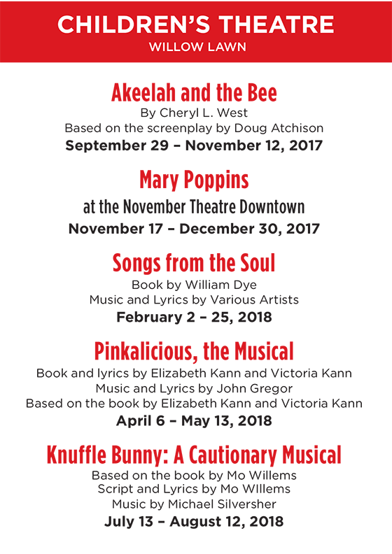 Childrens - Akeelah and the Bee, Songs from the Soul, Pinkalicious the Musical, Knuffle Bunny: A Cautionary Musical