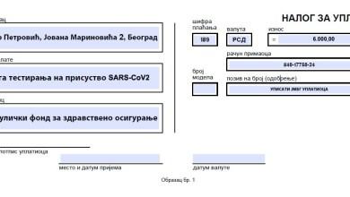 Photo of Testiranje RT-PCR metodom na lični zahtev građana