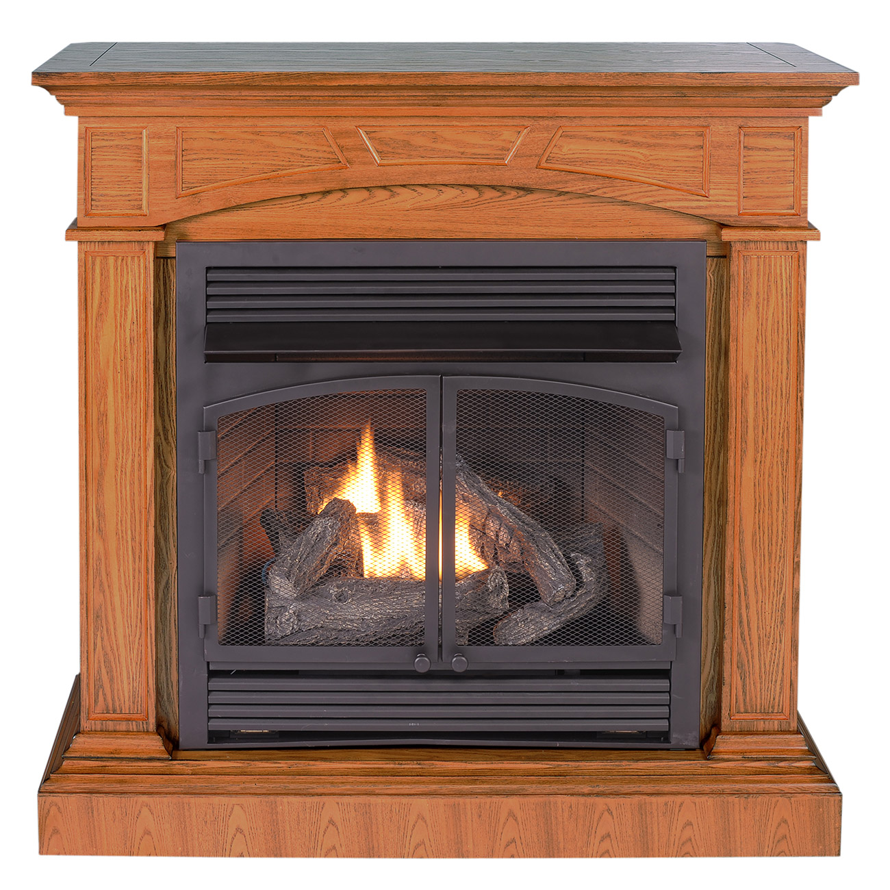 Ventless Fireplace System with Dual Fuel Technology  ProCom Heating
