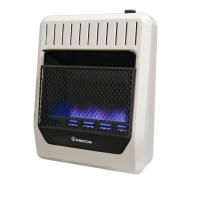 Ventless Propane Gas Blue Flame Thermostat Wall Heater