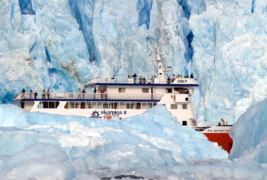 Glaciar San Rafael desde el Crucero Skorpios, Chile