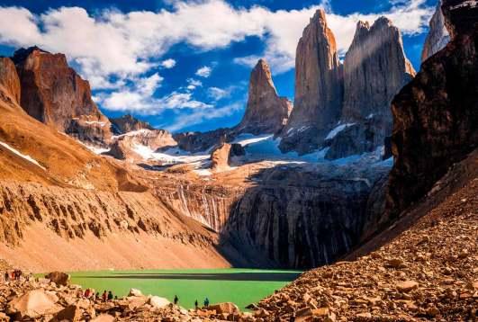Paisaje de Torres del Paine, Chile