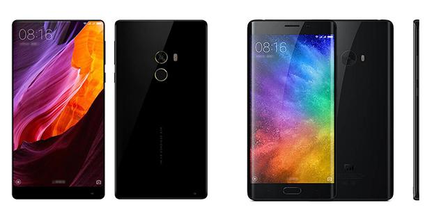 Xiaomi Mi Mix y Xiaomi Mi Note 2