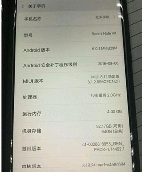 Características del Xiaomi Redmi Note 4X o Pro