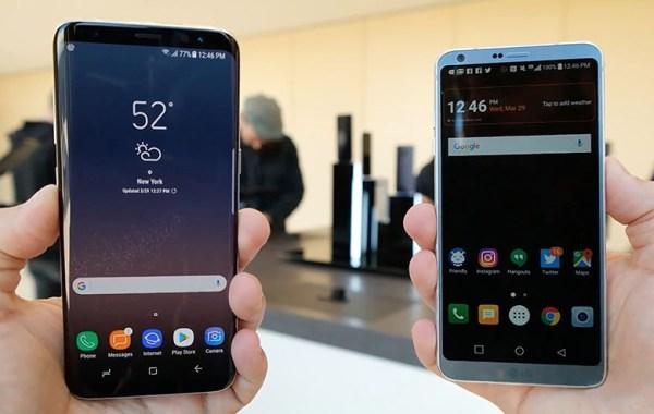 Samsung Galaxy S8 y LG G6