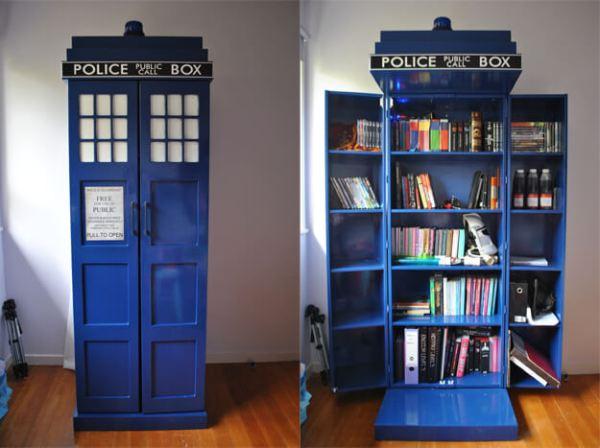 Librería Tardis DIY de Doctor Who
