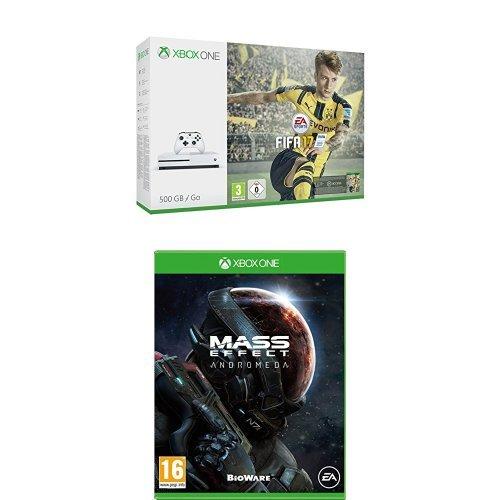 Xbox One - Pack Consola B + FIFA 17 + Mass Effect: AndrómedaS 500 G