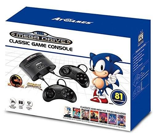 AT-Games - Consola Retro Mega Drive Classic (81 Juegos)