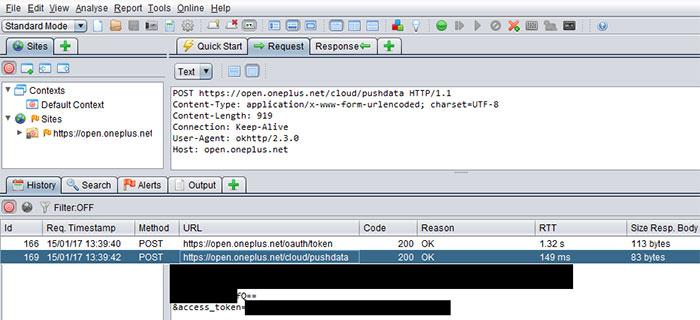 anular transferencia datos oneplus