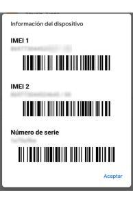 averiguar código de identificación IMEI