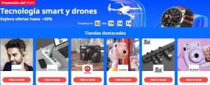 Cupones en tecnología y drones 11 del 11 en AliExpress