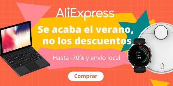comprar Aprovecha la promoción fin de verano en Aliexpress, cupones y mejores ofertas
