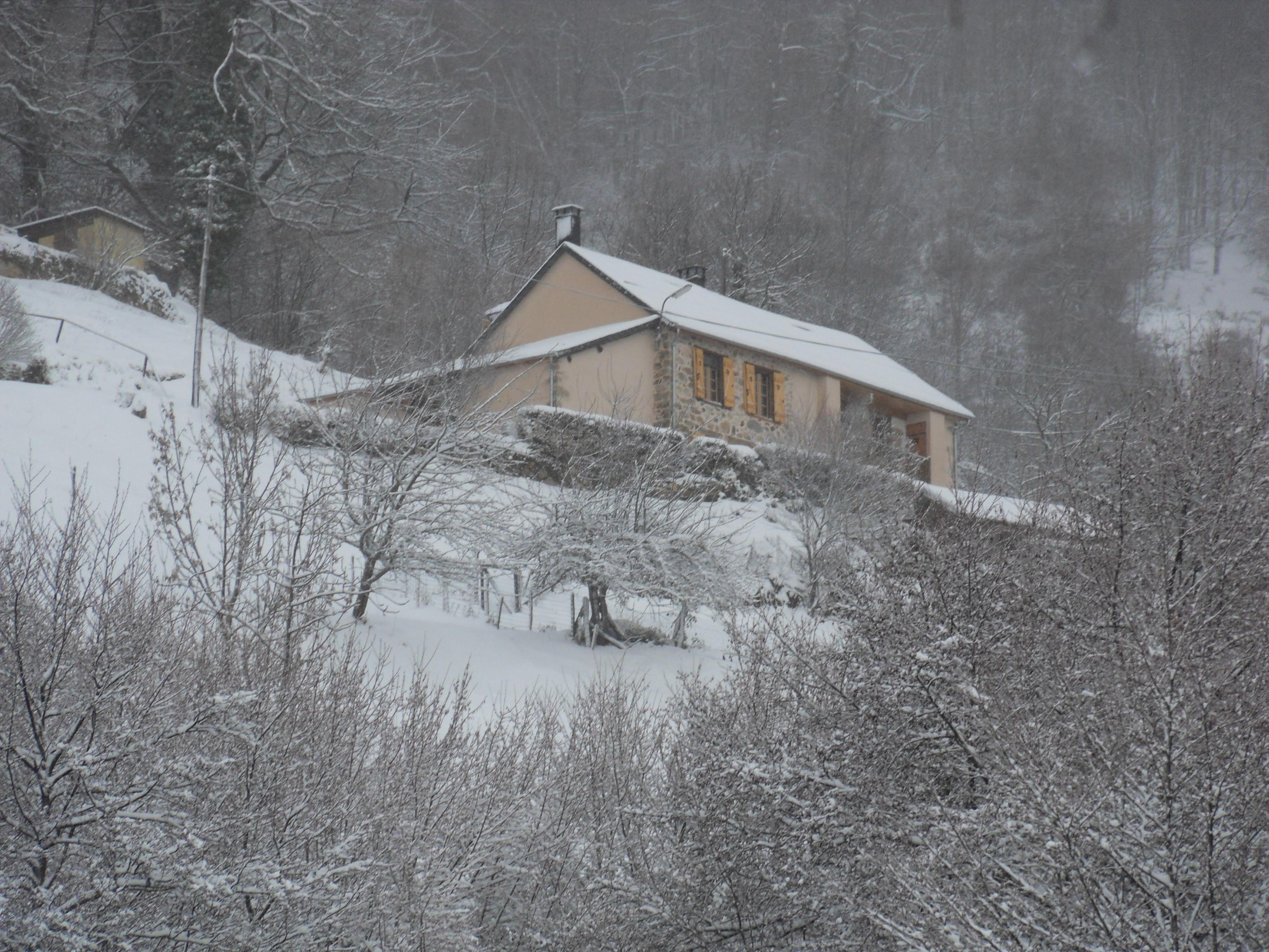 Le Péré sous la neige…