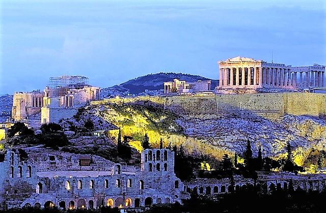 Stupenda vista sull'Acropoli, Atene, Grecia