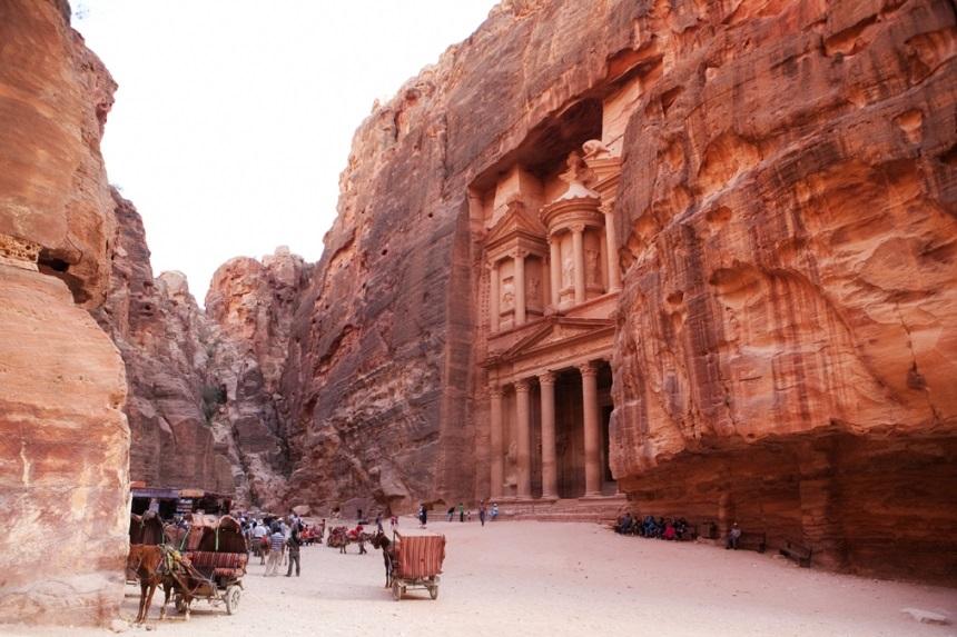 Al-Siq carga Canyon Slot