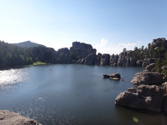 View of Sylvan Lake.