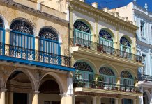 Old Havana houses in Plaza Vieja