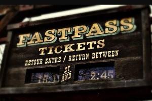 Disneyland Fastpass Ticket