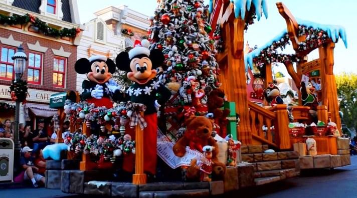 Parade at Santa at Christmas Day Disneyland