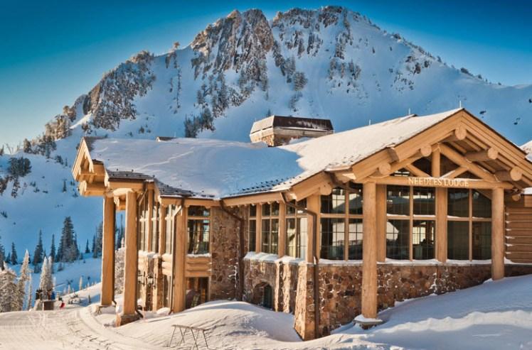 Snowbasin ski resort in Utah USA