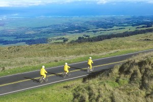 Cycling at Haleakala on Maui