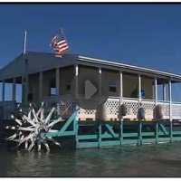Paddle Wheeler Houseboat Beached On Sanibel