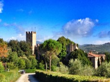 The road leading to Montalto Castle