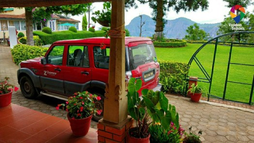 Scorpio  parked at Teanest Coonoor