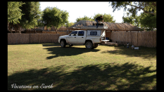Namibia 2012 - All packed up at the Amanzi Trails campsite and ready to hit the road