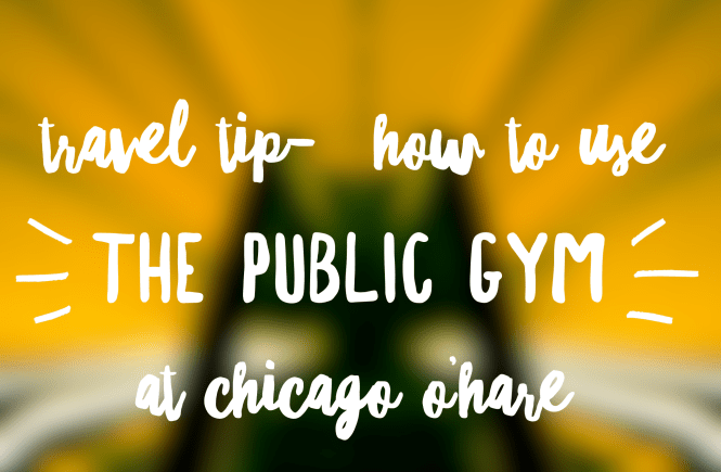 travel tips for chicago ohare. Use the public gym at O'hare