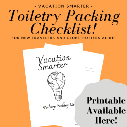 download printable toiletry packing checklist vacation smarter