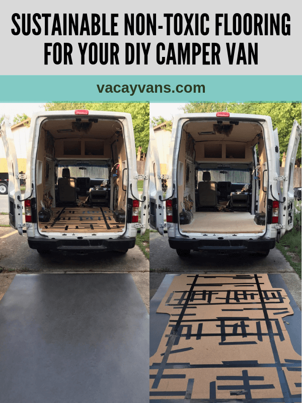 marmoleum diy camper van conversion nontoxic sustainable flooring linoleum