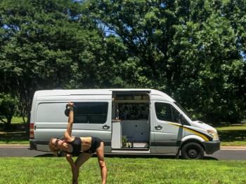 van life exercise stretch yoga health nomad biohack