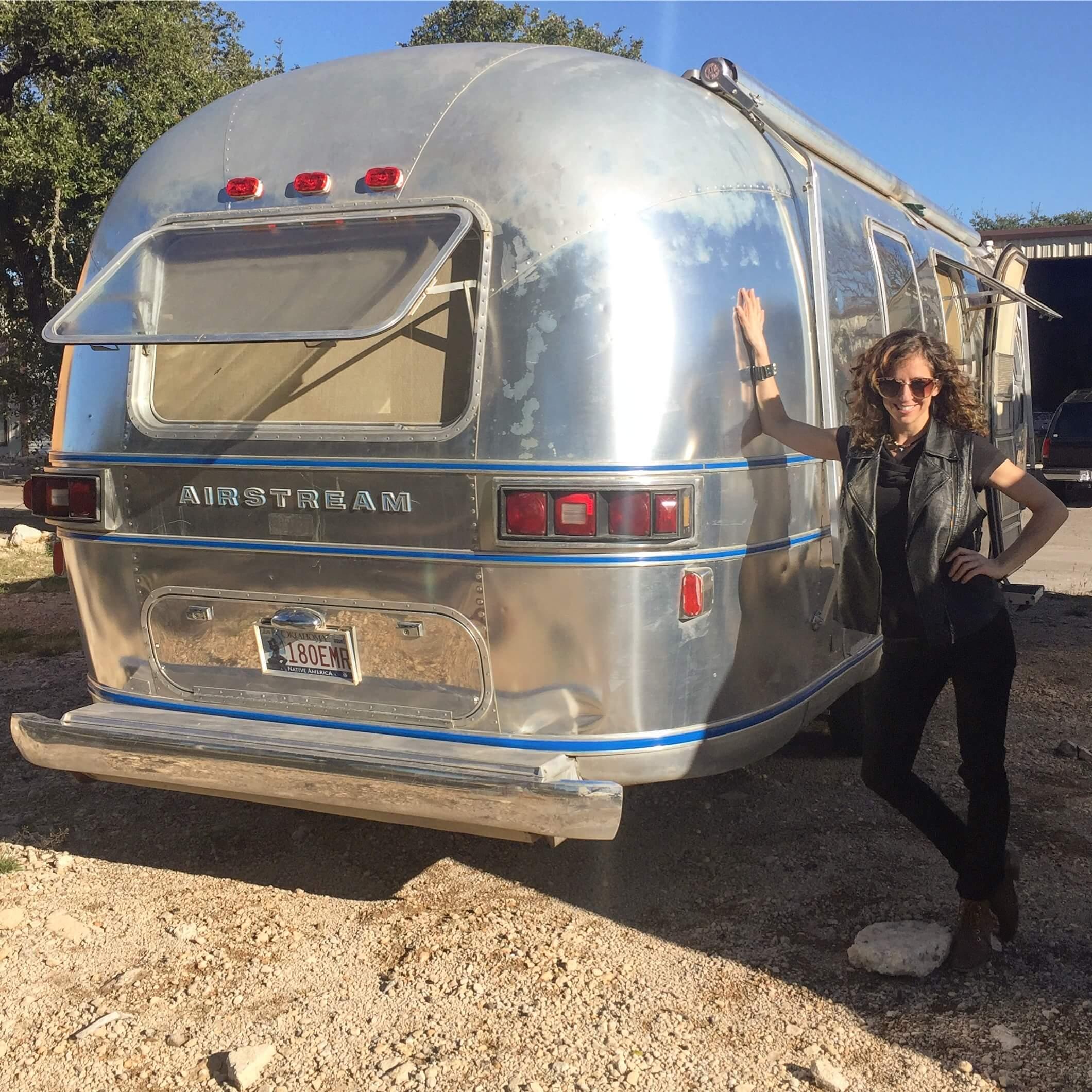Vacay Vans Lisa Jacobs 1977 Airstream Overlander renovation van life Instagram blog