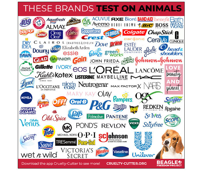 companies that test on animals beauty health toxic chemicals dirty dozen animal rights