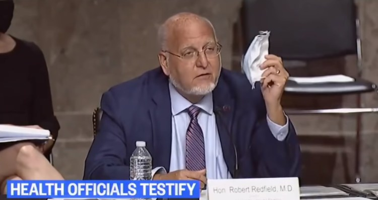 CDC Director Redfield Lies to Congress About Masks - Loses ...
