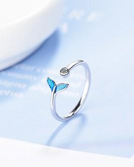 Adjustable Blue Mermaid Ring