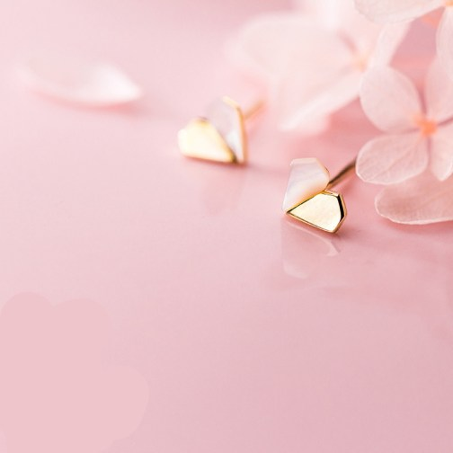 Abstract Heart-Shaped Earrings