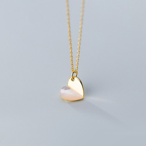 Abstract Heart-Shaped Necklace - S925