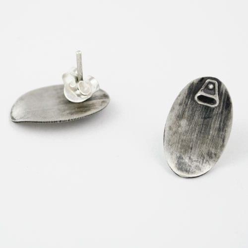 pendientes de plata tapa lata sardinas