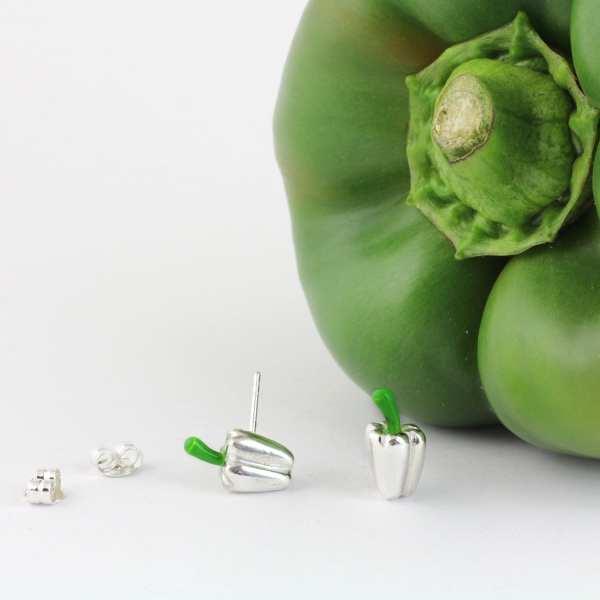 Silver Earrings Pepper