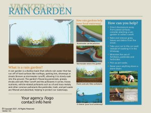 Standard Rain Garden Sign 21-4