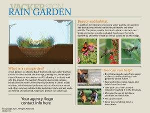 Standard Rain Garden Sign 21-1