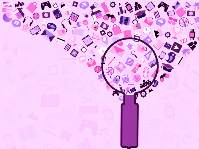 an illustration of a magnifying glass