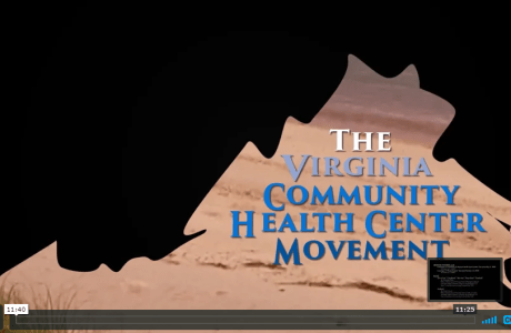 opening title slide, state of Virginia Health Center Movement overview episode