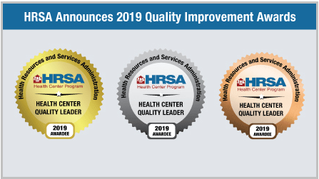 HRSA quality award badges