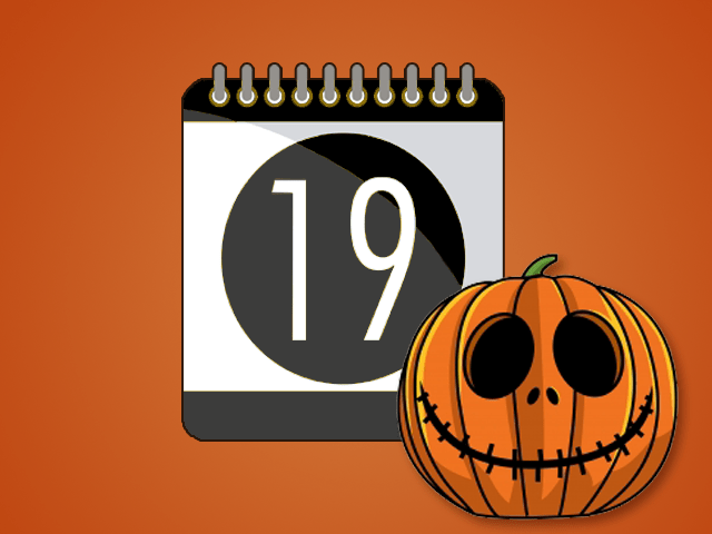 Calendar with a pumpkin